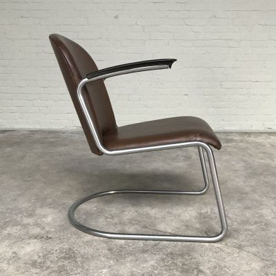 Lounge chair 413 by W.H. Gispen for Gispen, Netherlands 1950s