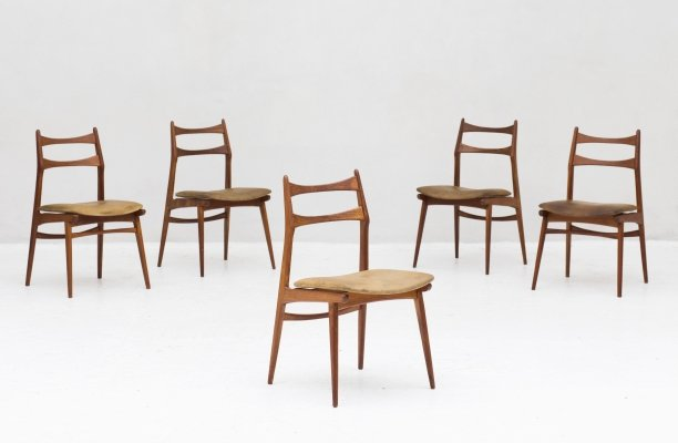 Set of 5 dining chairs 'Boomerang' by Habeo, Germany, 1960's