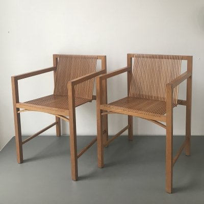 2 x Slat chair by Ruud Jan Kokke, 1980s