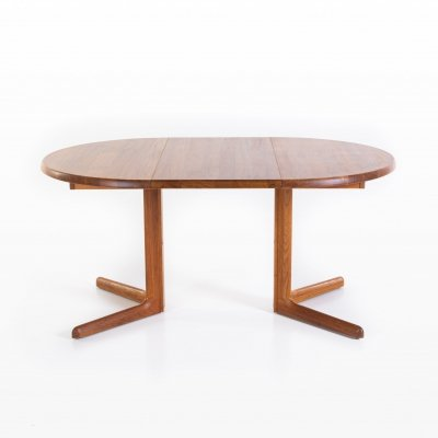 Solid teak dining table, 1960s