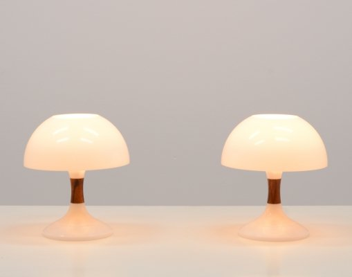 "Rare ""Karina"" Table Lamps by Bent Karlby for ASK Belysninger"