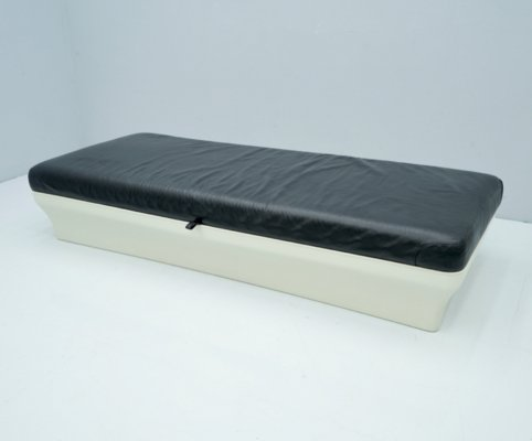 Fiberglass & Black Leather Daybed by Otto Zapf, Germany 1967