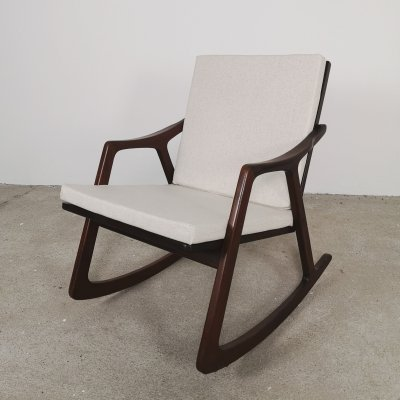 Teak Mid Century Rocking Chair, 1960s