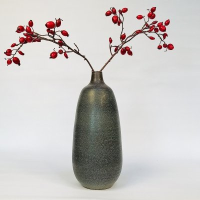 Large German Glazed Studio Ceramic Vase by Carl Fischer for Bürgel, 1950s