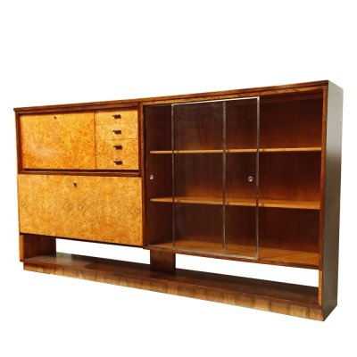 Multifunctional combined cabinet / bookcase by UP Závody, Czechoslovakia 1950s