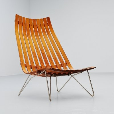 Hans Brattrud Scandia lounge chair by Hove Mobler, Norway 1957
