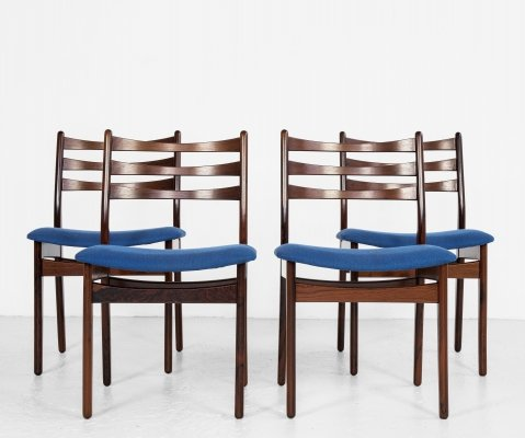 Midcentury Danish set of 4 dining chairs in rosewood, 1960s