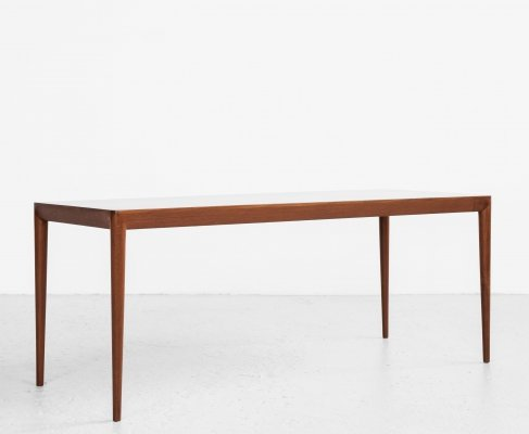 Midcentury Danish coffee table in teak by Erik Riisager Hansen for Haslev, 1960s