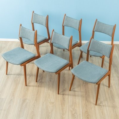 Set of 6 dining chairs by Habeo, 1950s