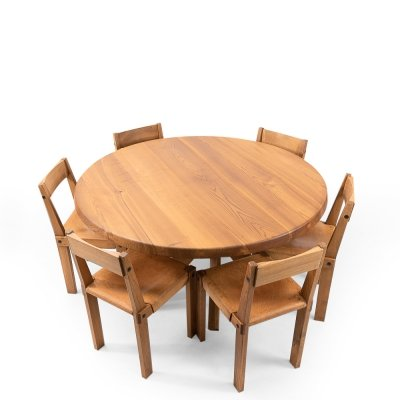 Pierre Chapo T21 & S24 Dining Set, 1980s