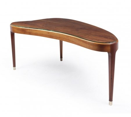 Mid Century Danish Kidney shaped coffee Table, 1960s