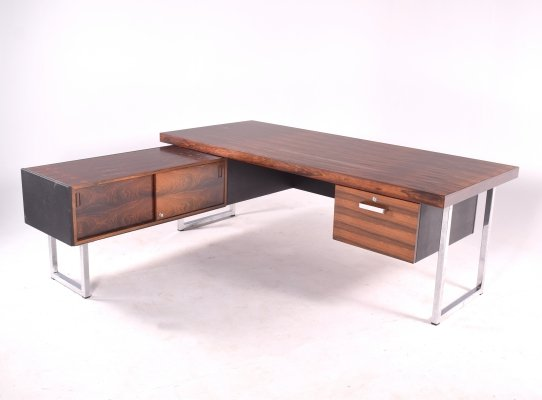 Rosewood Desk with Sideboard by Gordon Russell