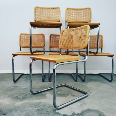 Set of 6 'Cesca' chairs, Italy 1990s
