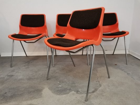 Set of 4 Vintage chairs made by Overman Sweden for Meblo