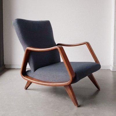 Walnut lounge chair by A.A. Patijn for Zijlstra Joure