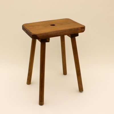 Swiss stool in solid wood, Switzerland 1960s