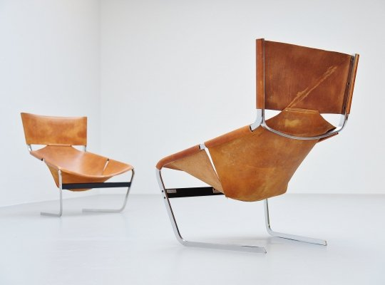 Pierre Paulin Pair of F444 lounge chairs for Artifort, 1963