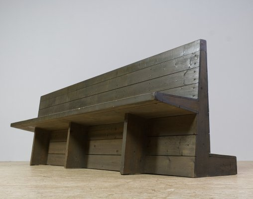 Dom Hans van der Laan church bench for St Willibrordus church, 1964