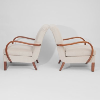 Swedish 1940s Pair of Armchairs