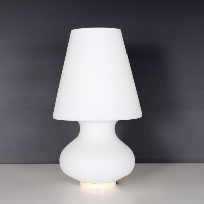 White opaline glass lamp, 1970's