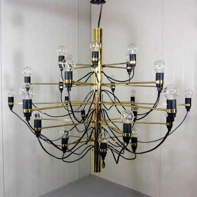 Brass chandelier 2097-30 by Sarfatti, Italy
