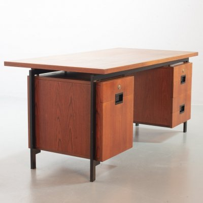 Cees Braakman for Pastoe Writing Desk EU02 Japanese Serie in Teak & Black Steel