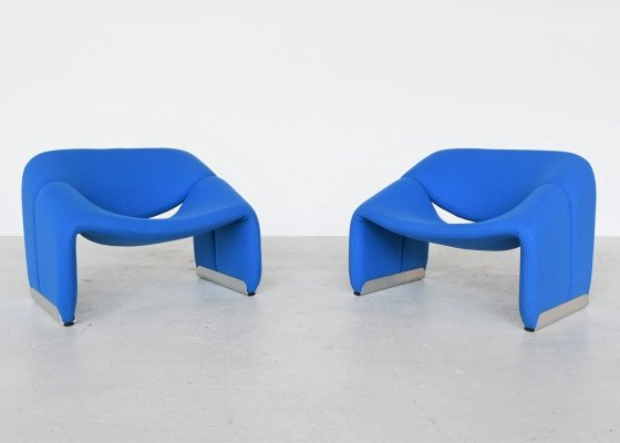 Pierre Paulin pair of F598 Groovy lounge chairs for Artifort, The Netherlands 1972