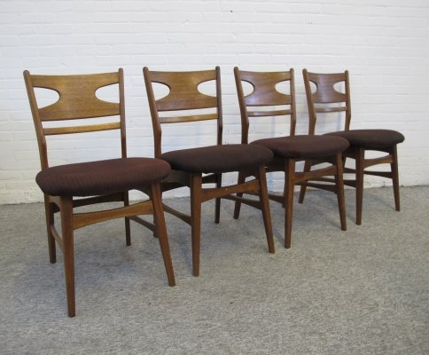 Set of four vintage Danish dining chairs, 1960s