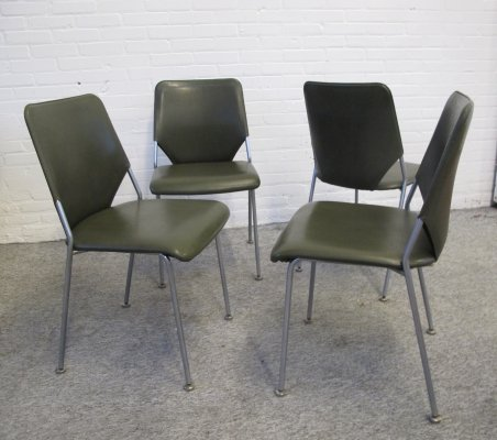 Set of 4 vintage dining room chairs, 1960s