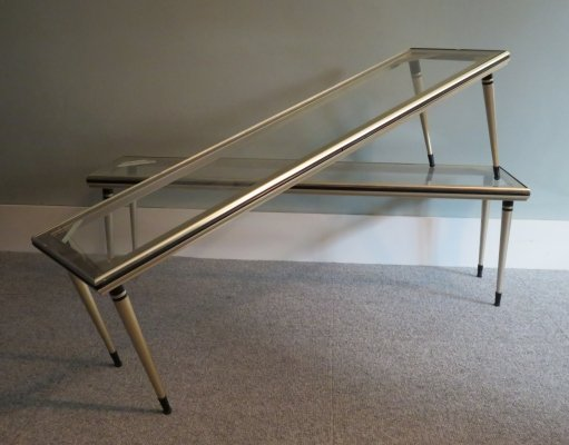 Set of 2 display tables, 1950s