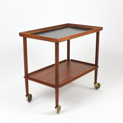 Danish teak serving cart, 1960s