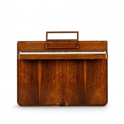 Midcentury Modern Danish Pianette by Louis Zwicki in rosewood, 1950s