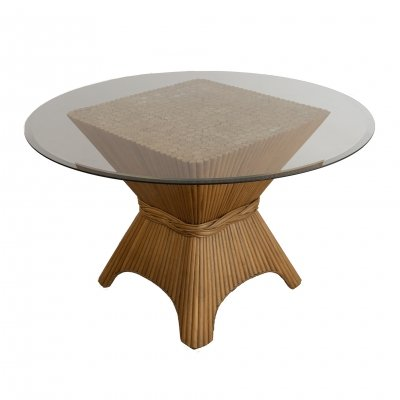 American wheat sheaf coffee table by McGuire