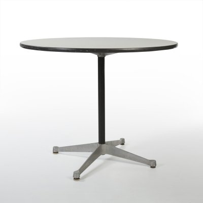 White Herman Miller Original Eames ET108 Round Contract Table