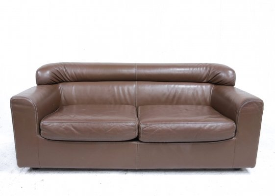 Rare Durlet Buffalo Neck-Leather Sofa, 1970s