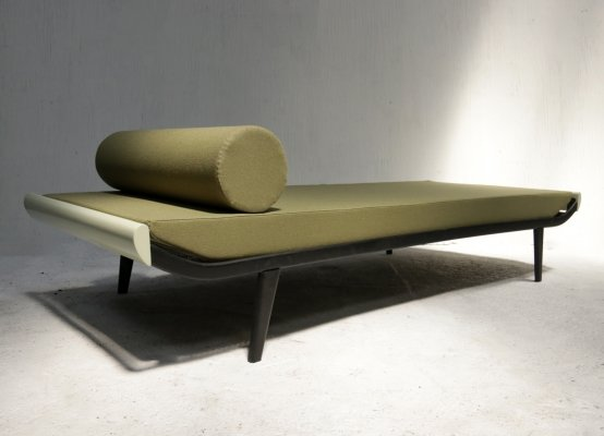 Mid-Century Modern Auping Cleopatra Daybed in Olive green by André Cordemeyer, 1953