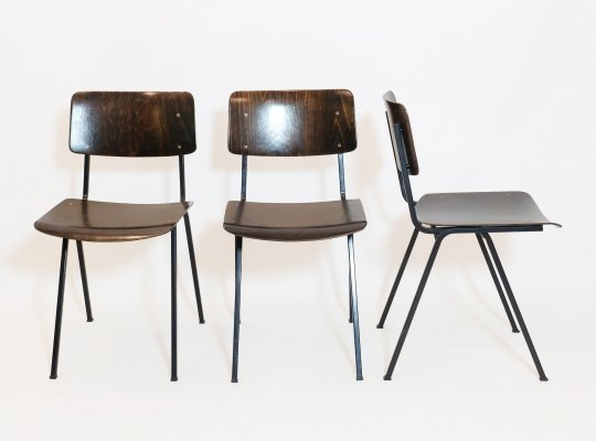 3 F6 chairs by Eromes, Nederlands 1960s