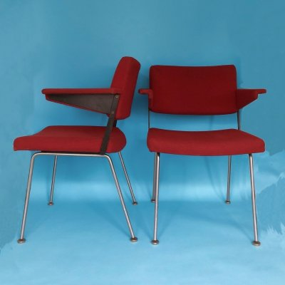 Set of 2 Vintage Model 1445 Chairs by André Cordemeyer for Gispen, 1960s
