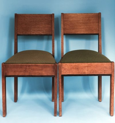 Set of 2 Art Deco 'L.O.V. Oosterbeek' Haagse School Chairs