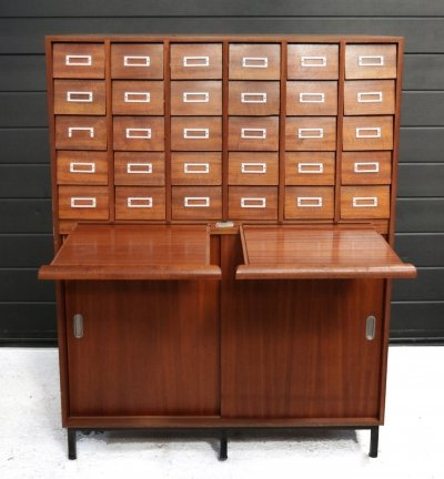 Vintage Mid-century Apothecary Cabinet / Chest of Drawers, ca. 1960