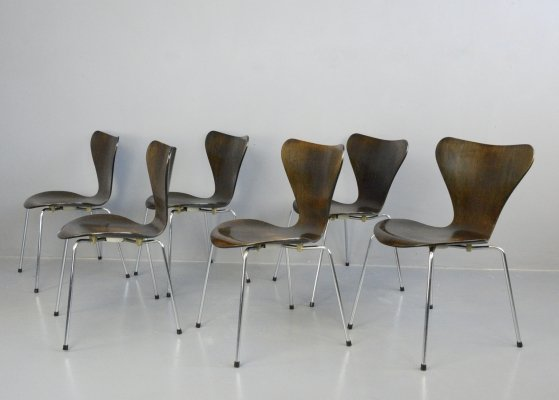 Model 3107 Chairs by Arne Jacobsen for Fritz Hansen, Circa 1960s