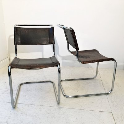 Pair of Mart Stam S33 chairs for Thonet, 1980s