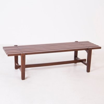 Wood Bench by Ezio Longhi for Elam, 1950s