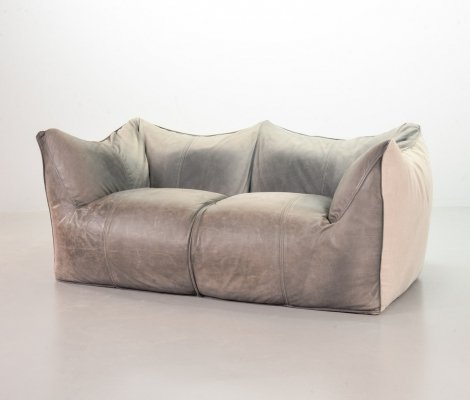 Mario Bellini 2-Seat 'Le Bambole' Sofa for C&B Italia in Leather & Fabric, 1970s