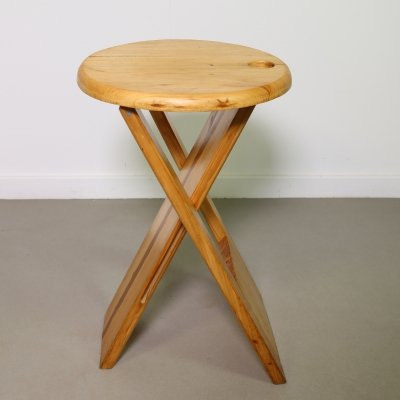 Birch folding stool by Roger Tallon, 1970's