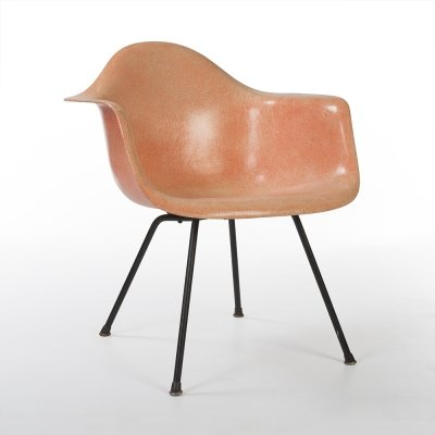 Orange 2nd Generation Zenith Original Vintage Eames MAX Medium Arm Chair