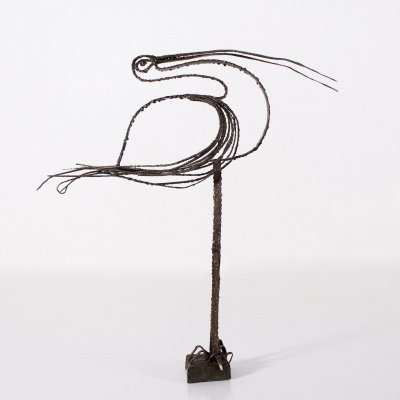 Brutalist wrought iron sculpture, 1960's
