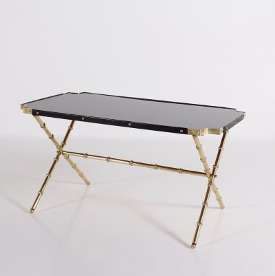 Bambou style coffee table by Jacques Adnet for La Compagnie des Arts Français