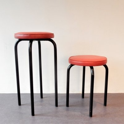 Set of 2 'Taboeret' stools for Meurop, 1960's Belgium
