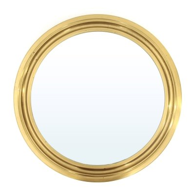 """Narciso"" mirror with brass frame by Sergio Mazza for Artemide, 1960s"